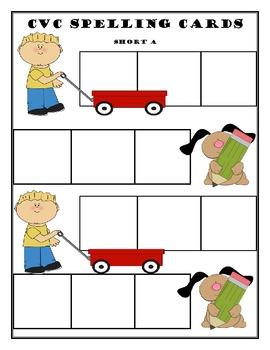 Short Vowel Spelling Task Cards