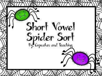 Short Vowel Spider Sort