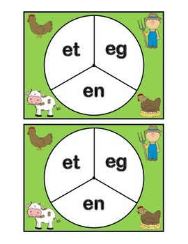 Short Vowel Spin-A-Word Game- et-eg-en