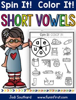 Short Vowel Spin It Color It