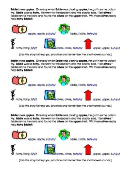 Short Vowel Tapping Story