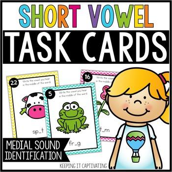Short Vowel Task Cards {Medial Sound Identification}