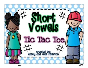 Short Vowel Tic Tac Toe