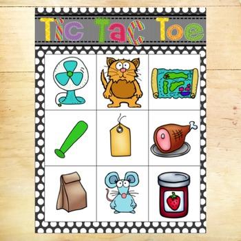 Short Vowel Tic-Tac-Toe Games