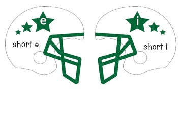 Short Vowel Touchdown - Short e and i