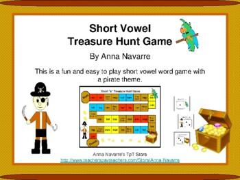 Short Vowel Treasure Hunt Game