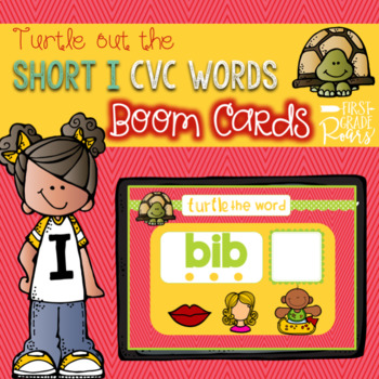 Short Vowel Turtle the Word CVC BUNDLE Boom Task Cards