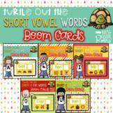 Short Vowel CVC DECODE the Word Boom Task Cards