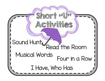 """Short Vowel """"U"""" Activities"""