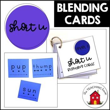 Short Vowel U Blending Cards