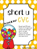 Short Vowel U CVC Activities