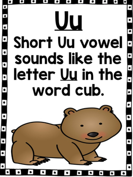Short Vowel U CVC Word Work!