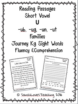 Short Vowel U Families (-ub, -ug, -un, -ut) : Fluency & Comprehension Passages