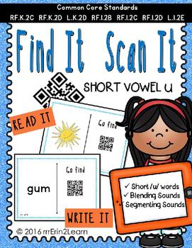 Short Vowel U QR Code Hunt