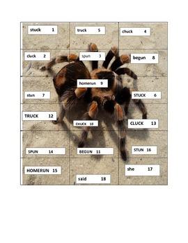 Short Vowel U Spelling Puzzle