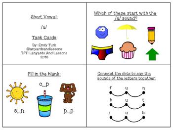Short Vowel: U Task Cards