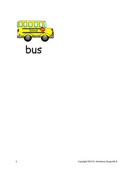 Short Vowel U Word Families Homework