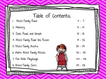 "Short Vowel ""U"" Word Family Centers"