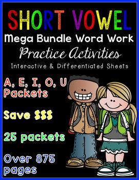 Short Vowel Word Work {MEGA BUNDLE}