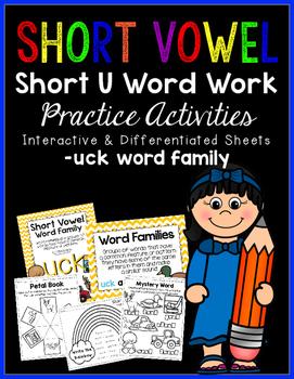 Short Vowel U Word Work {-uck Word Family}