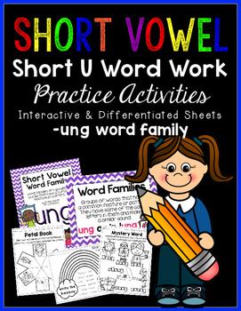 Short Vowel U Word Work {-ung Word Family}