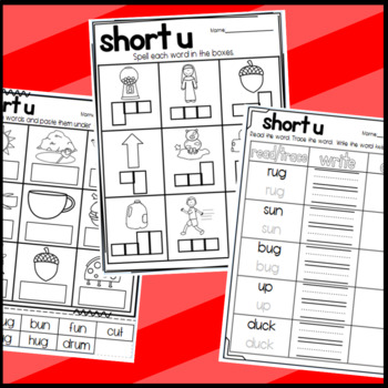 Short Vowel U Worksheets: Sorts, Cloze, Read and Draw, and More