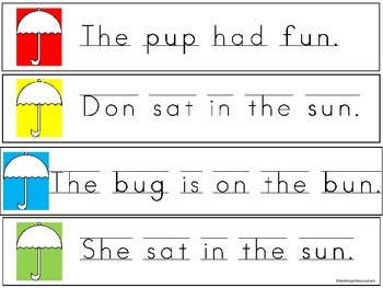 Short Vowel U Write And Read The Room