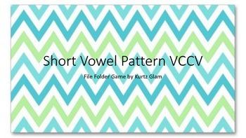 Short Vowel VCCV 4th grade File Folder Early Finisher