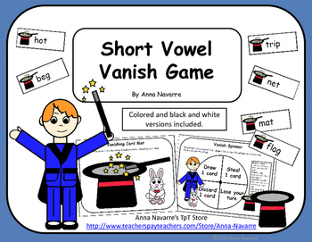 Short Vowel Vanish Game