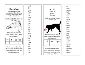 Short Vowel Variations Bookmarks
