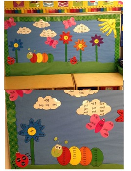 Short Vowel Vowels Word Family Families Bulletin Board Display