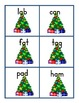 Short Vowel Word Cards With Christmas Theme -132 count