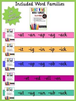 Short Vowel Word Families BUNDLE!