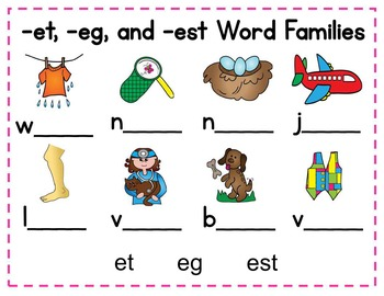 Short Vowel Word Families BUNDLE - Promethean