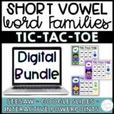 Short Vowel Word Families BUNDLE - Seesaw, Google Slides -