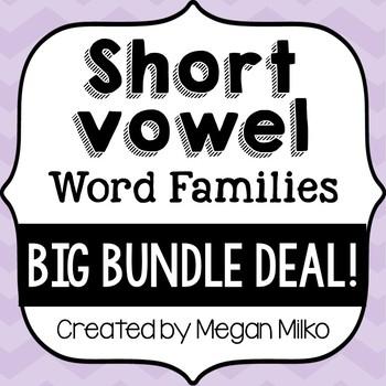 Short Vowel Word Families- Big Bundle Deal