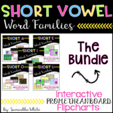 Short Vowel Word Families - Bundle{Promethean Board Flipcharts}