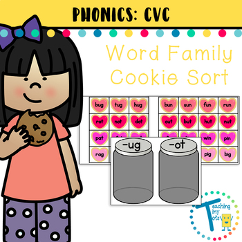 Short Vowel Word Families - Cookie Match