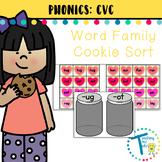 Short Vowel Word Families - Cookie Match