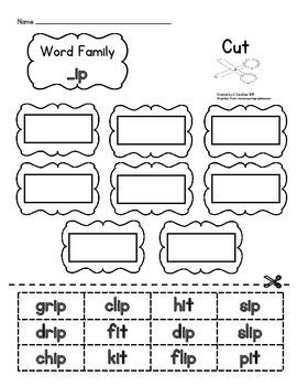 Short Vowel Word Families: Cut