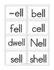 Short Vowel Word Families Flash Cards