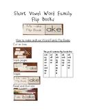 Short Vowel Word Families Flip Book Pack