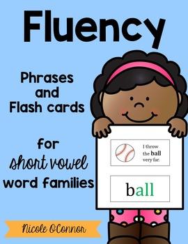 Short Vowel Word Families Fluency Phrases