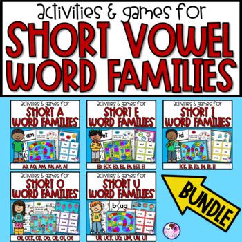 Short Vowel Word Families Games and Activities **Bundle**