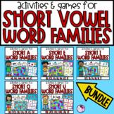 Word Families Games & Activities Short Vowels **Bundle**