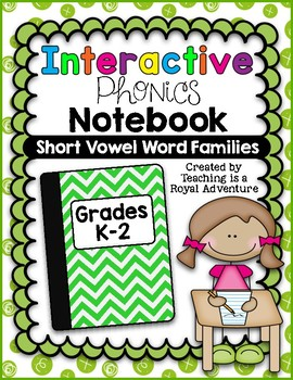 Short Vowel Word Families Interactive Notebook