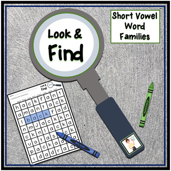 Short Vowel Word Families Look & Find