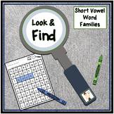 Short Vowel Word Families Look & Find