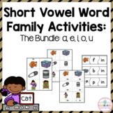 Short Vowel Word Families: Word Work Mega Bundle