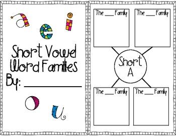 Short Vowel Word Families Mini-Book